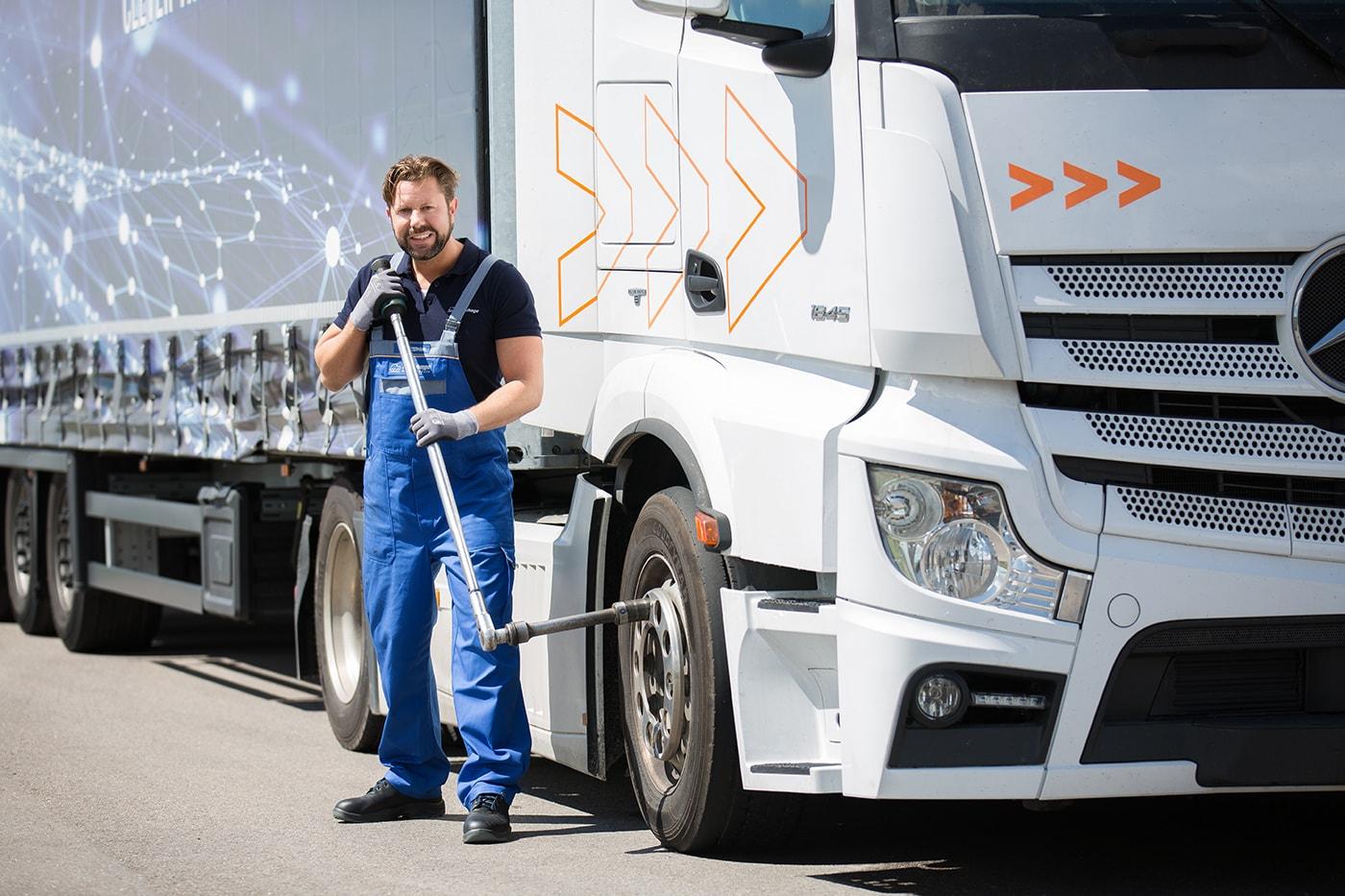 Reifenmonteur (m/w/d) im Mobilservice Schwerpunkt Nutzfahrzeugmontage